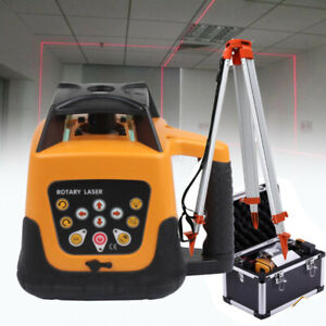 360 500m Range Auto Self leveling Rotary Rotating Red Laser Level Tripod Staff