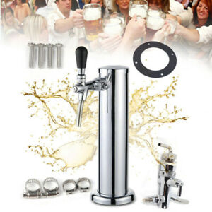 Draft Beer Tower One Faucet Homebrew Kegerator 3 Stainless Steel 320x76mm Usa