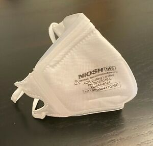 N95 Niosh Fda Approved Disposable Foldable Mask Adjustable Straps Silicone Seal