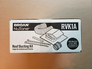 Broan Nutone Rvk1a 3 To 4 Exhaust Fan Roof Vent Kit Round Duct Black Steel