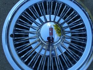 1972 79 Oldsmobile Cutlass Wire Wheel Covers 14 Inch Set Of 4 Nos 410649