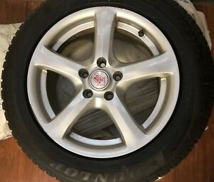 Set Of Four Dunlop 225 55 R16 Winter Snow Tires Lightly Used