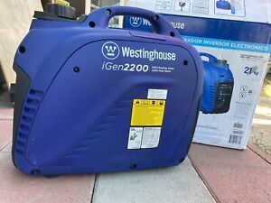 Westinghouse Igen2200 Portable Gas Inverter Generator 1800w Rated W Oil Blue