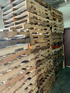 Wood Pallets Recovered Skids 4 Way 48 X 42 Local Pickup Only Brooklyn Ny