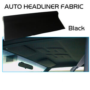 Blackout Headliner Fabric Foam Car Upholstery Roof Lining Replacement 36 X39