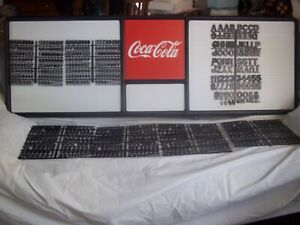 New 6ft Coca cola Menu Board W7 Sets 3 Diff Sizes Of Letters numbers Symbols