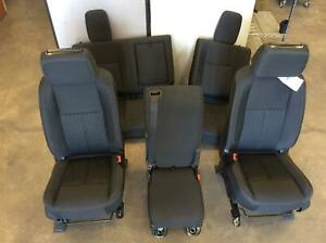 2019 Nissan Titan Front Rear Seat Set Bench Cloth Manual Sv Crew Cab Oem