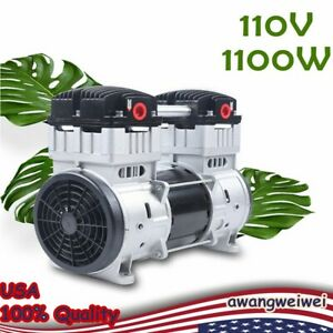 Oil free Silent Air Pump Air Compressor With Silencer 7cfm Quiet 1100w 110v Usa