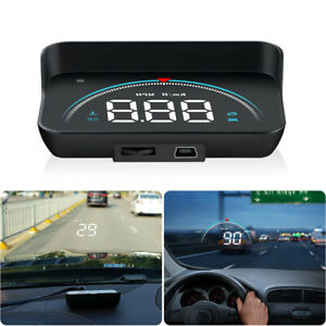 M8 Car Hud Head Up Display Obd2 Ii Euobd Overspeed Warning System Projector