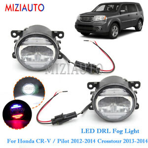 Led Drl Fog Lights Lamps For Honda Cr V Pilot 2012 2014 Crosstour 2013 2014 Pair