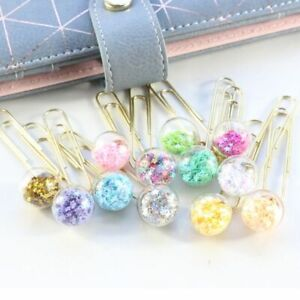 Set Clips Office School Stationery Paper Bookmark Metal Cute Creative Sequins