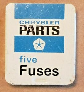 Vintage Nos 1960s Chrysler Parts Fuses Rare Mopar Dealer Display