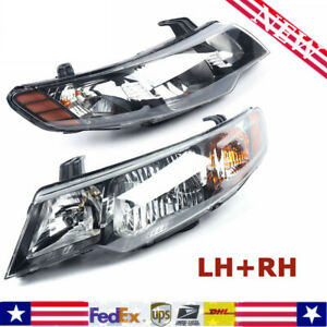 Fits 10 13 Kia Forte forte Koup 1pair Headlamps Headlight Set Front Left Right