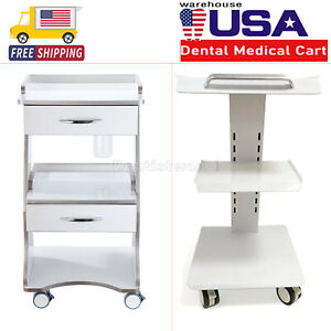 Us Dental Trolley Built in Socket Mobile Cart Unit Instrument Tool Durable Metal