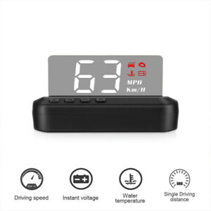 Car Speed Projector Auto Speedometer Kmh Mph Obd Hud Headup Display Alarm System