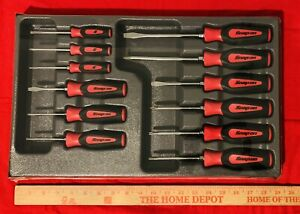 Snap On Sgdxw120b Red 12pc Soft Grip Combination Screwdriver Set New