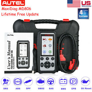 Autel Maxidiag Md806 Four System Obd2 Auto Diagnostic Tool Code Scanner Abs Srs