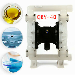 Air operated Double Diaphragm Air Poly Pump Chemical Industrial 1 5in 35 2gpm
