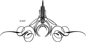 Custom Graphic Center Scroll Pinstriping Decal 12 Pair Set Of Two Decals