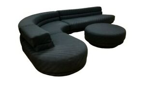 Vladimir Kagan Preview 4 Piece Serpentine Sectional Sofa