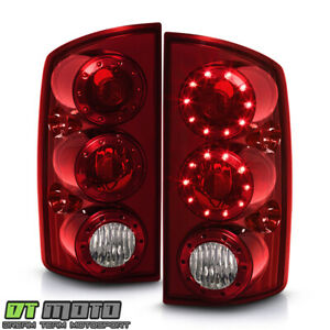 2002 2006 Dodge Ram 1500 03 06 2500 3500 Led Tail Lights Brake Lamps Red Clear