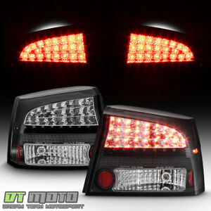 Black 2009 2010 Dodge Charger Led Perform Tail Lights Brake Lamps Left Right