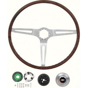 Oer r6533 69 Gm Rosewood Woodgrain Steering Wheel 16 In Diameter