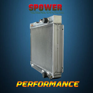 Spawon 4 Row 62mm At 65ba Aluminum Radiator For Chevrolet Bel Air Nova 1962 1965