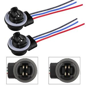 Universal Pigtail Wire Female Socket 4157 S Two Harness Front Turn Signal Light