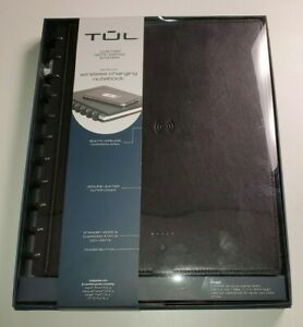 Tul Wireless Charging Discbound Notebook Black Leather Cover 8 1 2 X 11 New