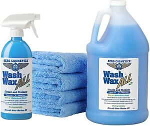 Car Wash Wax Kit Wet Waterless Dry Vehicle Truck Suv Boat Motorcycle Clean Care