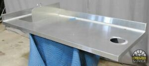 Commercial Grade Stainless Steel Prep Countertop Sink Scrap Cutout 71 Wide
