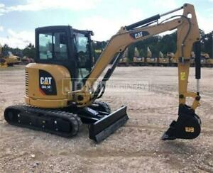 2019 Caterpillar 303 5e2 Cr Cab Air Heat Mini Track Crawler Excavator Cat 303