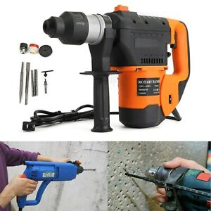 1 1 2 Sds Electric Rotary Hammer Drill Plus Demolition Variable Speed W bits Us