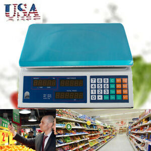 Digital 30kg 66lbs Meat Food Computing Retail Price Scale 66lb Fruit Countingce