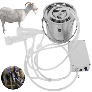 3l Cpacity Bucket Electric Milking Machine Stainless Steel Barrel Goat Milker