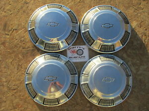 1968 1969 1970 Chevy Caprice Impala Bel Air Biscayne Dog Dish Hubcaps Set 4