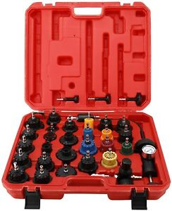 33pc Radiator Pressure Tester Vacuum type Cooling System Refill Kit W case New