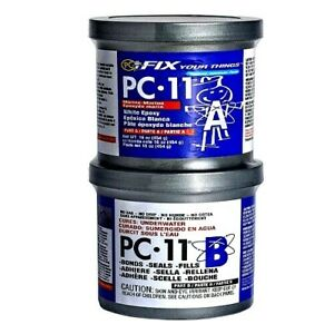 Pc 11 Two part Marine Grade Epoxy Adhesive Off White 1lb In Two Cans