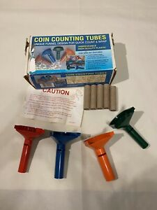 Coin Counting Tubes Unique Funnel Design Used Open Box Tubes In Perfect Shape