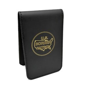 Perfect Fit Us Border Patrol Leather Notebook Cover Note Pad Top Opening 3x5
