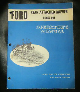 Ford Tractor 501 Sickle Mower Manual Catalog Farm tractor Ford Repair Shop