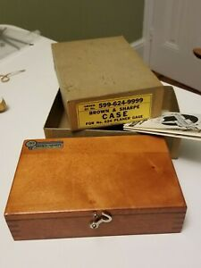 Vintage Brown Sharpe Case For 624 Planer Gage New Old Stock mint