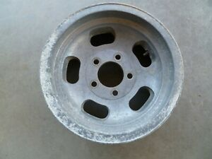 One Vintage Steel aluminum Slot 14x6 Wheels Rim Pattern 5 X 4 3 4