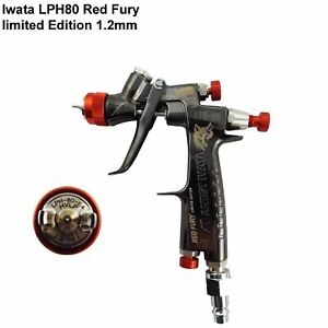 Anest Iwata Lph80 1 2mm Red Fury Limited Edition E4 Touch Up Gravity Spray Gun