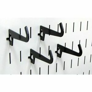 Wall Control Pegboard 3 1 2in Reach Curved Tip Slotted Hook Pack Metal Hooks For