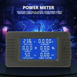 Pzem 022 100a Digital Meter Power Energy Voltage Current Test With Close Type Ct