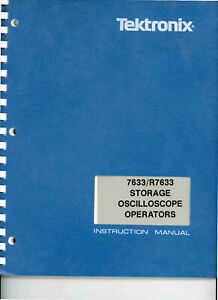 Tektronix 7633 r7633 Storage Oscilloscope User only Manual