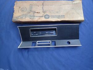 1968 Plymouth Valiant Radio And Heater Control Bezel Nos 2864736 Dash