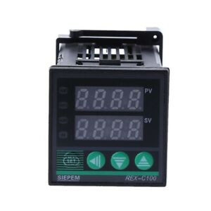 Pid Digital Temperature Controller Rex c100 m 0 To 400 Degree K Type Relay Outp